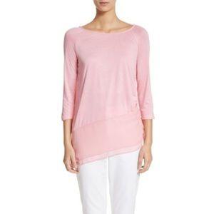 NWT ST. JOHN silk Georgette & Jersey Size S